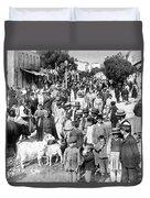Sparta Greece - Street Scene - C 1907 Duvet Cover