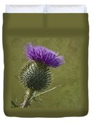 Spear Thistle With Texture Duvet Cover
