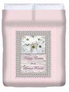 Special Friend Easter Card - Flowering Dogwood Duvet Cover