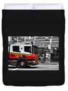 Speed In The City Duvet Cover