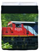 Speeding Cn Train Duvet Cover