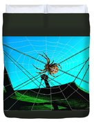 Spider On The Olympic Roof Duvet Cover