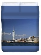Spinnaker Tower And Round Tower Portsmouth Duvet Cover