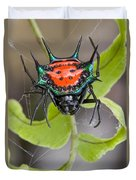 Spinybacked Orbweaver Spider Solomon Duvet Cover