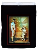 Spirit Of Freedom - Soldier And Son Duvet Cover