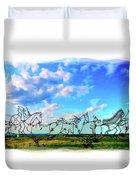 Spirit Warriors - Little Bighorn Battlefield Indian Memorial Duvet Cover