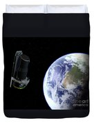 Spitzer Departing The Earth Duvet Cover
