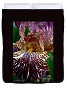 Splashed Iris Duvet Cover