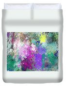 Splattered Colors Abstract Duvet Cover