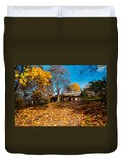 Splendor Of Autumn. Wooden House Duvet Cover