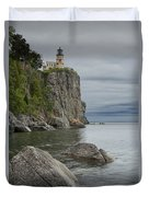 Split Rock Lighthouse In Northern Minnesota Duvet Cover