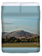 Sport Complex And The Butte Duvet Cover