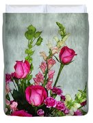 Spray Of Flowers Duvet Cover