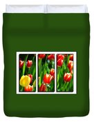 Spring Beauty Triptych Series Duvet Cover