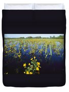 Spring Flood Plains With Wildflowers Duvet Cover