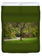 Spring Garden Landscape Duvet Cover