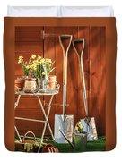Spring Gardening Duvet Cover by Amanda Elwell