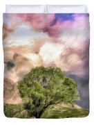 Spring Storm In Tuscany Duvet Cover