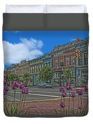 Spring Tulips Downtown Georgetown Duvet Cover