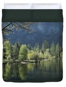 Spring View Of The Merced River Duvet Cover