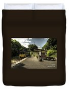 Sprinter At Sandplace Duvet Cover by Rob Hawkins