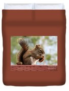 Squirrel And His Walnut Duvet Cover