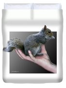 Squirrel In Hand Duvet Cover
