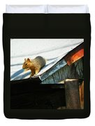 Squirrel On A Hot Tin Roof Duvet Cover