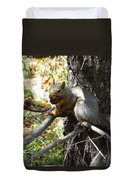 Squirrling Away Duvet Cover