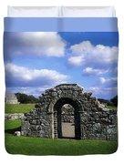 St Brigids Church, Inis Cealtra Holy Duvet Cover