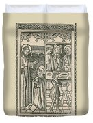 St. Catherine, Italian Philosopher Duvet Cover by Science Source