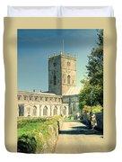 St Davids Cathedral Pembrokeshire Lomo Duvet Cover