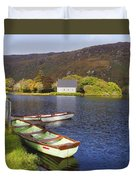 St. Finbarres Oratory And Rowing Boats Duvet Cover