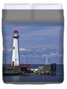 St. Ignace Lighthouse Duvet Cover