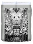 St. Louis Cathedral Monochrome Duvet Cover