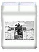 St Louis Cemetery Gate - New Orleans Duvet Cover