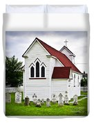 St. Luke's Church And Cemetery In Placentia Duvet Cover by Elena Elisseeva