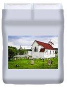 St. Luke's Church In Placentia Newfoundland Duvet Cover by Elena Elisseeva