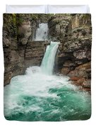 St. Mary Falls In Spring Duvet Cover