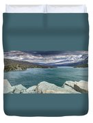 St. Mary Lake Under Stormy Skies Duvet Cover