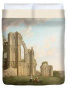 St Mary's Abbey -york Duvet Cover by Michael Rooker