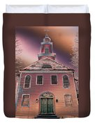 St. Mary's Episcopal Church In Pastel Duvet Cover
