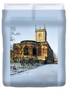 St Modwen's Church - Burton - In The Snow Duvet Cover