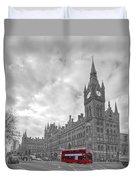 St Pancras Station Bw Duvet Cover