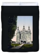 St Paul And St Peter Cathedrals In Kiev - Ukraine - Ca 1900 Duvet Cover