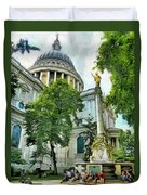 St Paul Is Giving His Blessing Duvet Cover by Steve Taylor