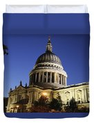 St Pauls Cathedral At Dusk, Exterior Duvet Cover