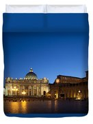 St. Peter's Basilica At Night Duvet Cover