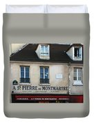 St Pierre De Montmartre Paris Scene Duvet Cover