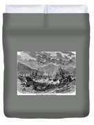 St. Thomas: Hurricane, 1867 Duvet Cover